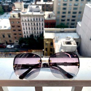 Chloe Gray & Gold Sunglasses